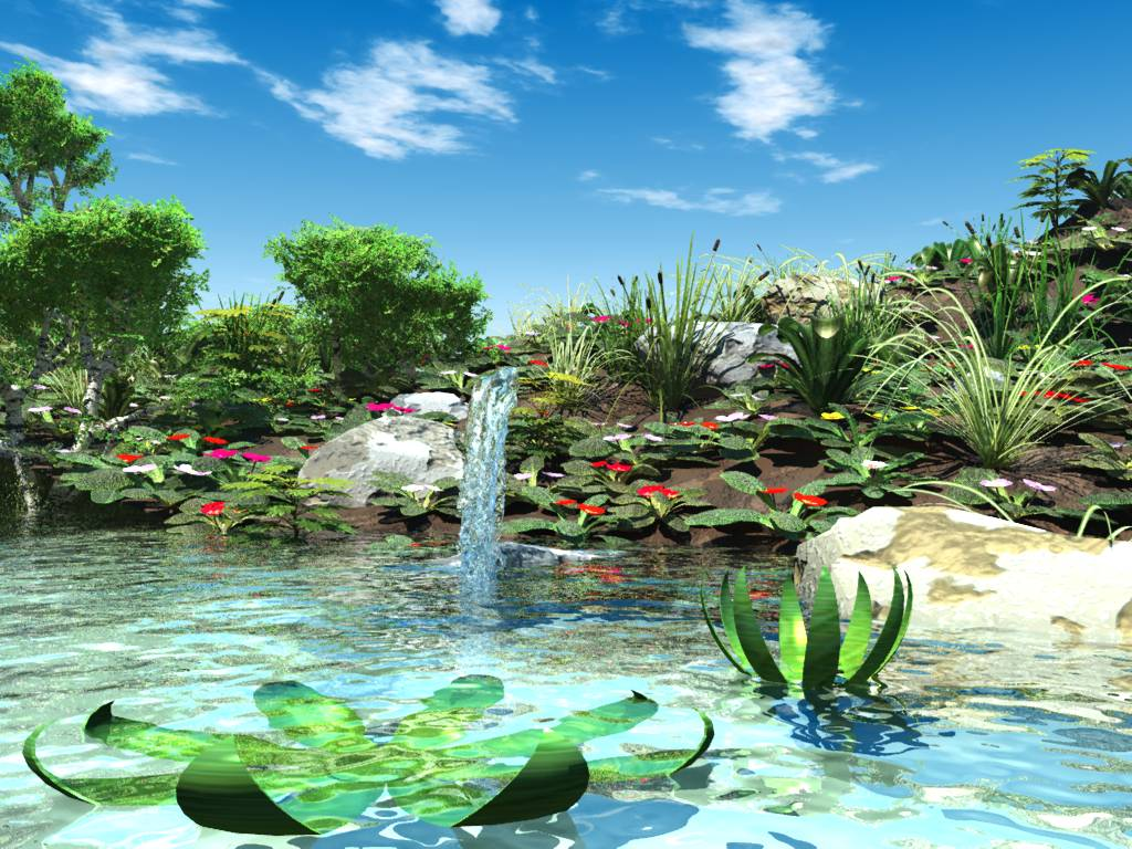 Scenery wallpaper fond d cran anim gratuit ordinateur for Fond ecran gratuit aquarium